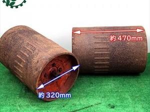 B5g20090 麦踏ローラー 2コセット 【六角軸】■アダプター付き■ 麦踏みローラー 鎮圧 耕耘機パーツ 農機具部品*