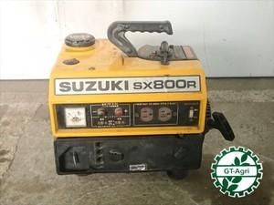 B2e4275 SUZUKI スズキ SX800R ポータプル発電機 50/60Hz 100V 2サイクル 【整備品/動画あり】