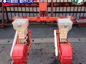Dg20120 サン機工 BO-201 さばける号 2条用 大豆 ベルト式 播種機 トラクター アタッチメント 2連*