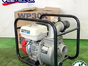 B6g20352 HONDA ホンダ WP30X エンジンポンプ 口径:80mm 5.5馬力 ■箱付き■【整備品/美品】水ポンプ*