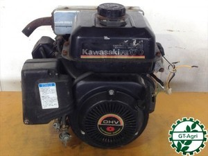 A14e4889 KAWASAKI カワサキ FE170G-BE55 ガソリンエンジン 最大6馬力 発動機■セル付き■【整備品/動画あり】