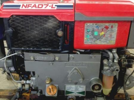 B6e4915 YANMAR ヤンマー NFAD7-LED■セル付き■水冷■ディーゼルエンジン 最大7馬力 発動機【整備品/動画あり】