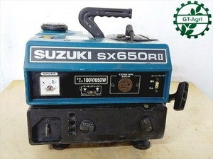 B3g19003 SUZUKI スズキ SX650RⅡ ポータブル発電機【60Hz 100V 650va】【整備品/動画あり】