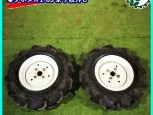 B5g201234 ブリヂストン タイヤ 2セット ホイール ■6-12 2PR■六角軸■クボタ K1-85より取外し■ 農機具部品 パーツ 耕耘機
