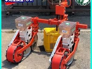 Dg201354 サン機工 BO-203 さばける号 ベルト式 播種機 大豆 種まき機 トラクター用 アタッチメント 2連 2条*