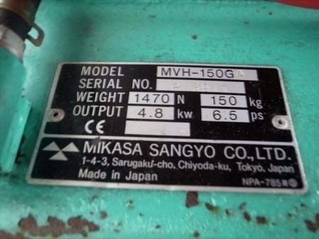 Be3190 MIKASA ミカサ MVH-150GA プレートランマー 動画有  ホンGX200エンジン 最大4.8kw 動作確認済み