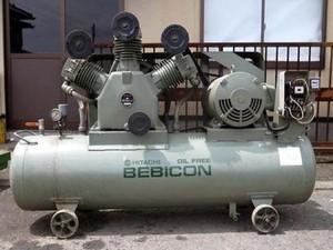 B6e2646 HITACHI 110P-7V6 コンプレッサー 200V ②・
