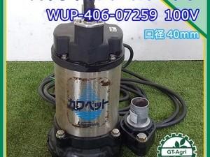 A17g212172 川本ポンプ 水中ポンプ WUP-406-0.25S カワペット ■口径40mm■ 60Hz 100V【通電確認済み】*