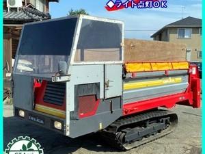 【販売済み】Dg202211 デリカ DAM-180S マニアスプレッダー 乗用 キャビン仕様 クローラー式 最大積載量:1800kg 堆肥散布