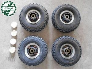 B5h2995 農機具部品 農業用タイヤ 4.10 / 3.50-4 タイヤ4コセット カート 台車