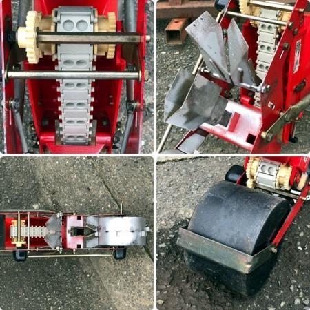 B4g191500 向井工業 HS-300型 ごんべえ 手押式播種機 ベルト繰上げ式 種まき機 手押し*