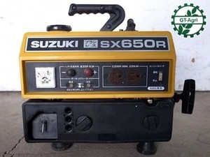 B6e3465 SUZUKI スズキ SX650R 発電機 発電器 2サイクルエンジン 100V 650VA 60Hz専用 動画有 整備済み