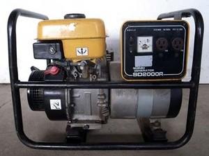 B6e3466 SUZUKI スズキ SD2000R 発電機 発電機 100V 50/60Hz 1.7/2.0KVA 動画有 整備済み