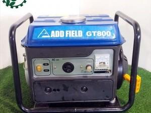B3g191687 ADD FIELD アドフィールド GT800 インバーター式携帯発電機 2サイクル 【60Hz 100V】【整備品/動画あり】*